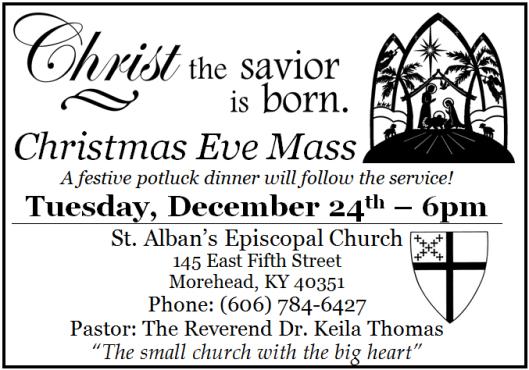 St. Alban's Christmas Ad